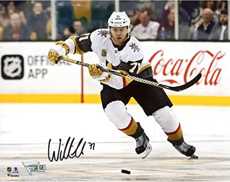 27ca41310 William Karlsson Vegas Golden Knights Autographed 8 quot  x 10 quot  White  Jersey Skating Photograph -