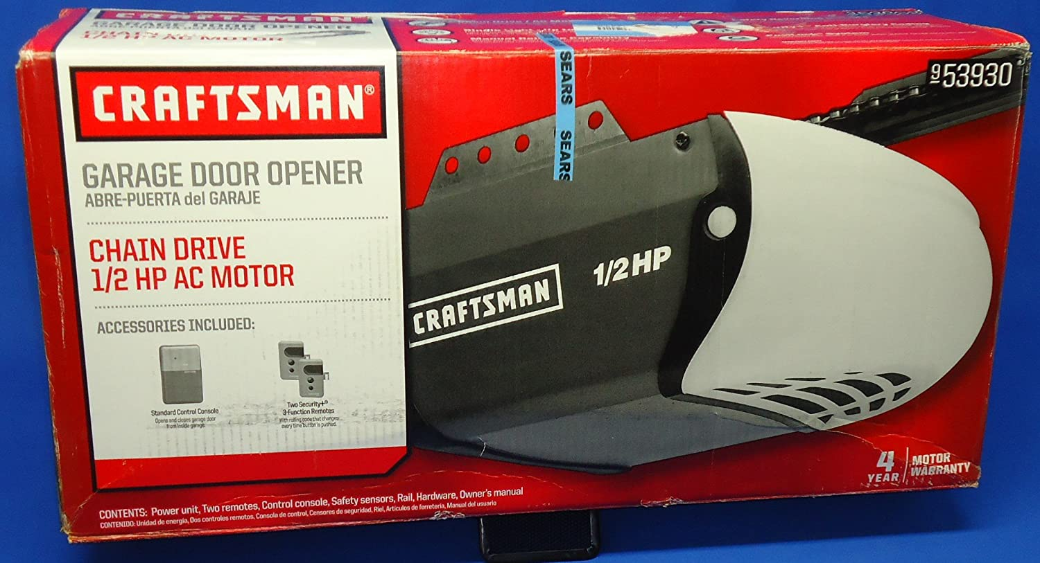 Craftsman 53930 cm garage opener 12 hp sears garage door craftsman 53930 cm garage opener 12 hp sears garage door openers amazon rubansaba
