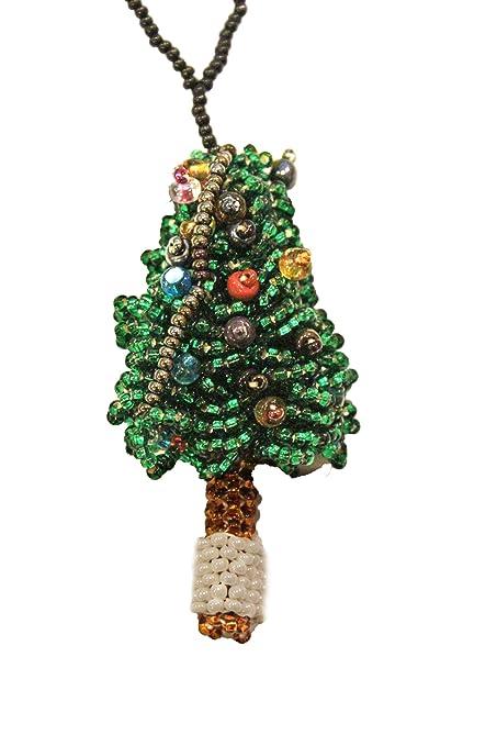 Guatemalan Handmade Beaded Christmas Tree Ornament