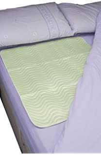 Patterson Medical - Protector absorbente para cama (900 x 900 mm, reutilizable, absorbe