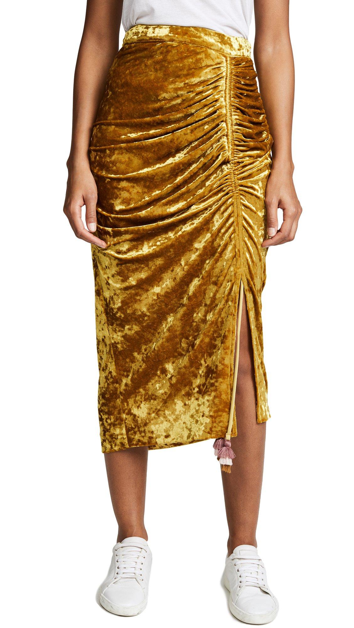 Rebecca Minkoff Women's Romy Skirt, Citrine, 0