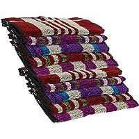 NEW NIKHAR FABRICS 250 GSM 10-Piece Cotton Face Towel Set - Multicolour