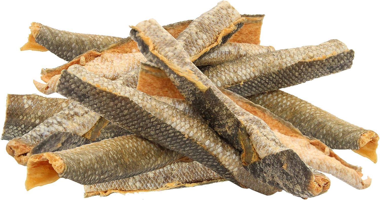 Wild Eats Salmon Skin Dog Treats, Dog Chews & Dog Snacks - 12 Pack (Single Ingredient, Alaskan Sockeye Wild Salmon Freeze Dried Salmon Dog Treats - Wild Caught & Sustainably Sourced No-Hide Dog Chews)