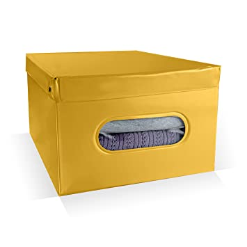 Amazon.com: Compactor Nordic Box, PVC, Amarillo, 19.7 x 15.2 ...
