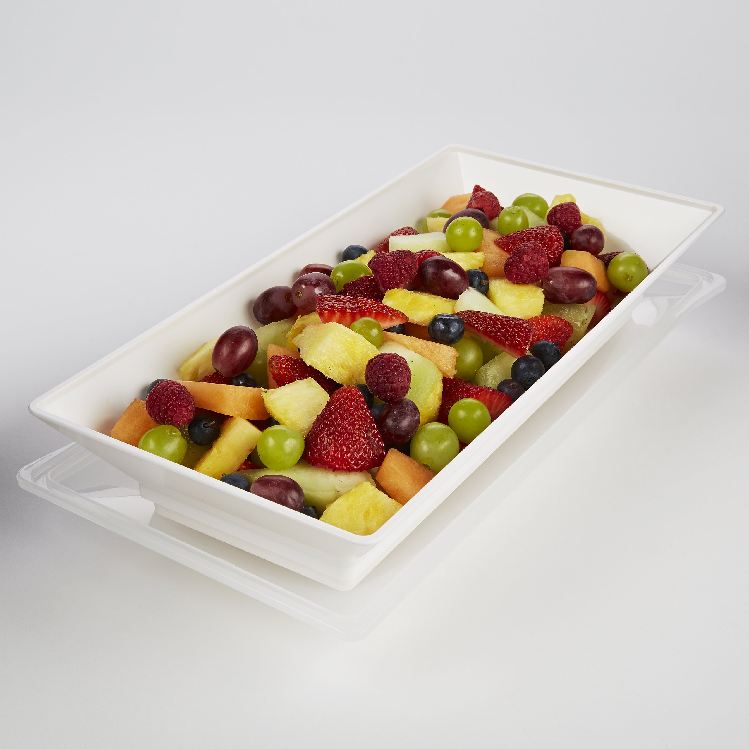 Fit & Fresh Chilled Serving Platter, 56-ounce Capacity Freezable Food Tray with Lid , BPA-Free, Freezer/Microwave Safe, Perfect for Party, Gathering, Food Storage by Fit & Fresh (Image #5)