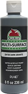 Apple Barrel Multi-Surface Paint in Assorted Colors (8 oz), Dark Granite