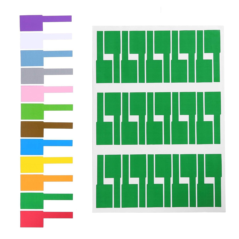 Gydandir 24 Blätter Blätter Blätter selbstklebende Kabel Etiketten wasserdicht reißfest Kabel Label Aufkleber Tags Kabel Label Aufkleber und für Laserdrucker 720 Stück insgesamt, 12 Farben B07DN4P6MQ | Ausgezeichnete Qualität  686e46