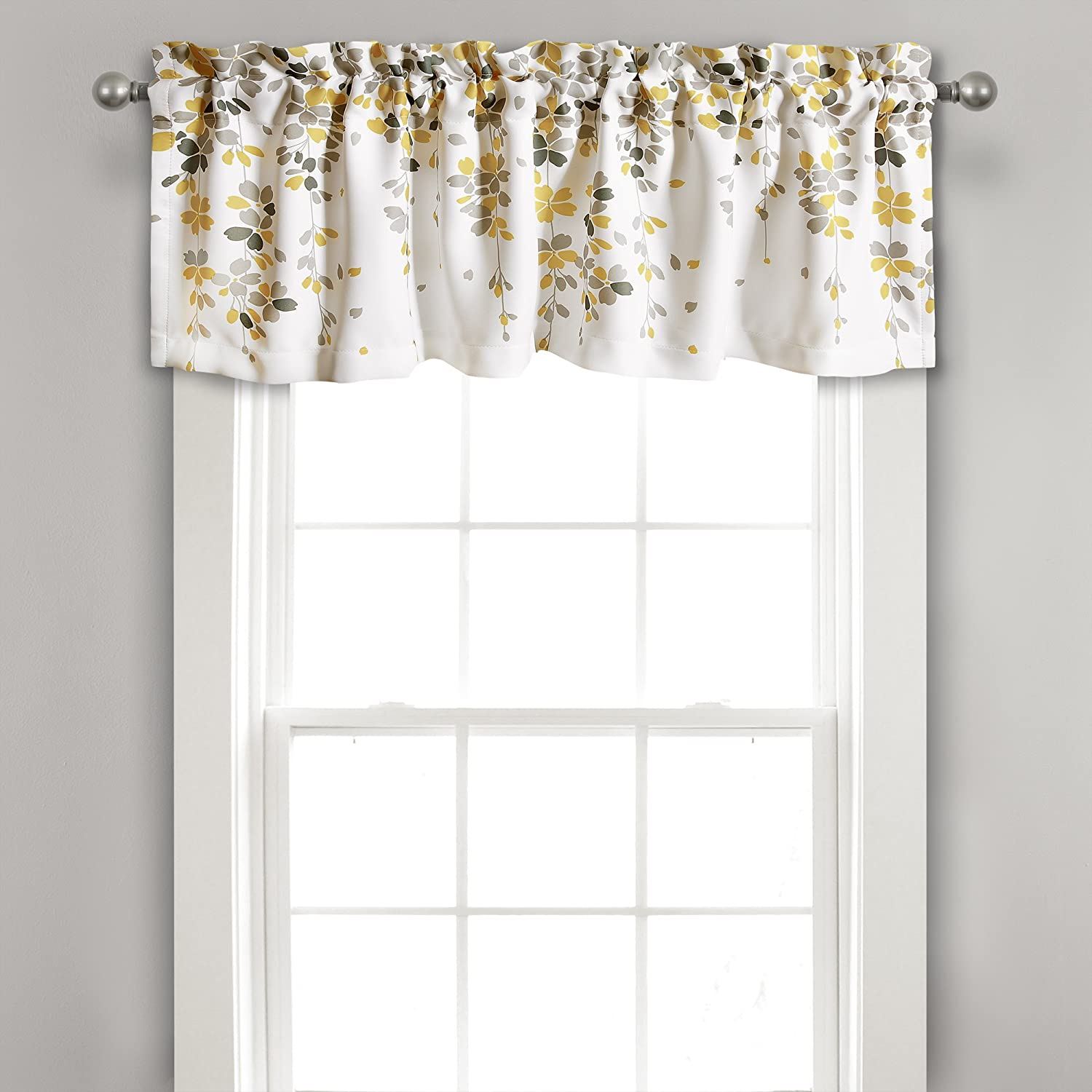 Lush Decor Weeping Flower Room Darkening Window Curtian Valance, 18