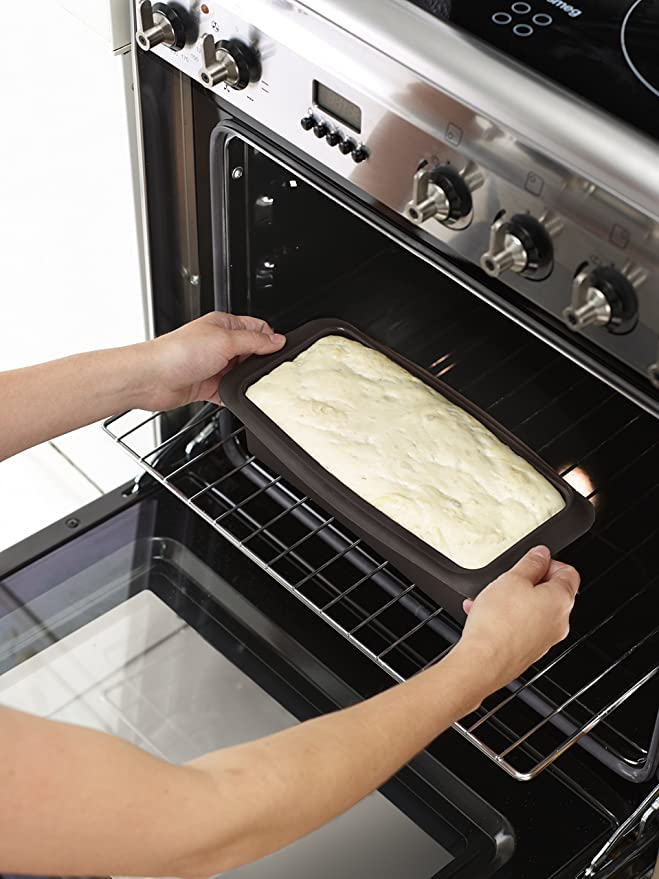 Lékué Molde de Silicona para Pan de Mode, Marrón, 28 cm