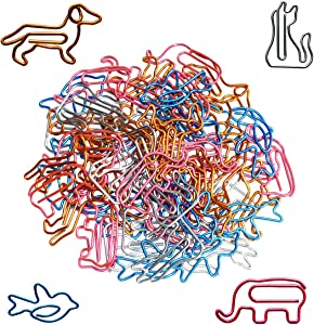 Paper Clips Small Sizes and Colors Assorted - Cute Animal Shapes Paperclips, Funny Office Supplies Gifts