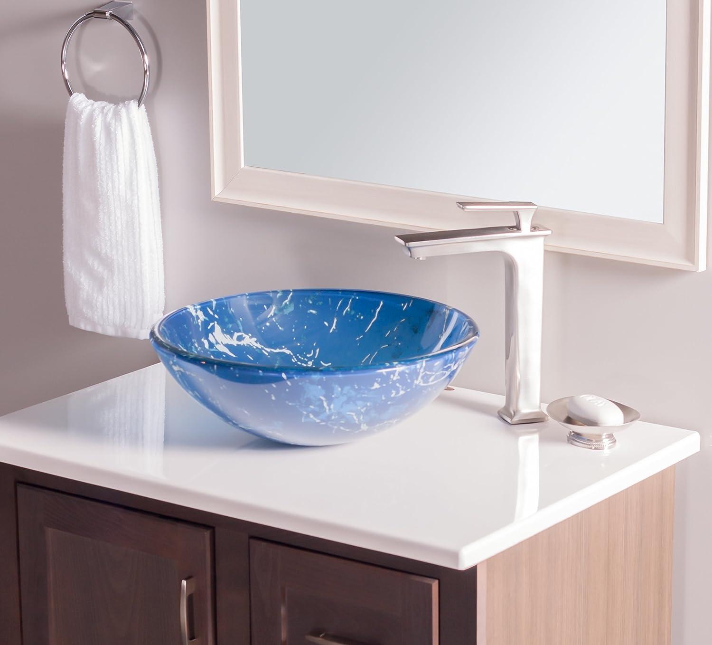 Novatto MARMO Glass Vessel Bathroom Sink - - Amazon.com