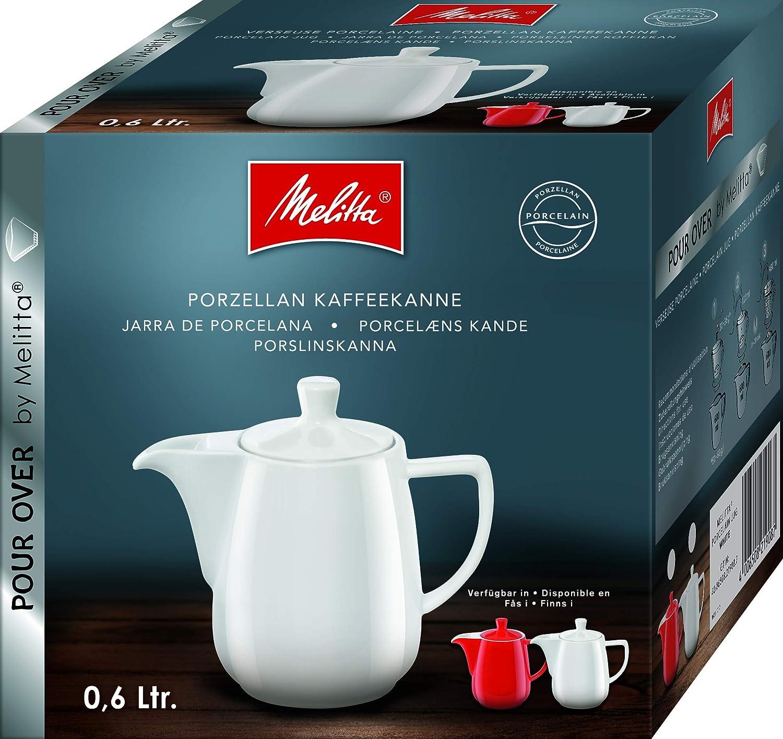 Melitta 219094 Porcelain Coffee Pot 0.6 L Red