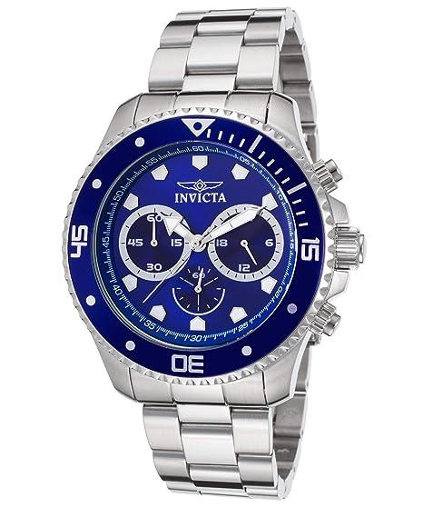Invicta 21788 Pro Diver Reloj para Hombre acero inoxidable Cuarzo Esfera azul: Amazon.es: Relojes