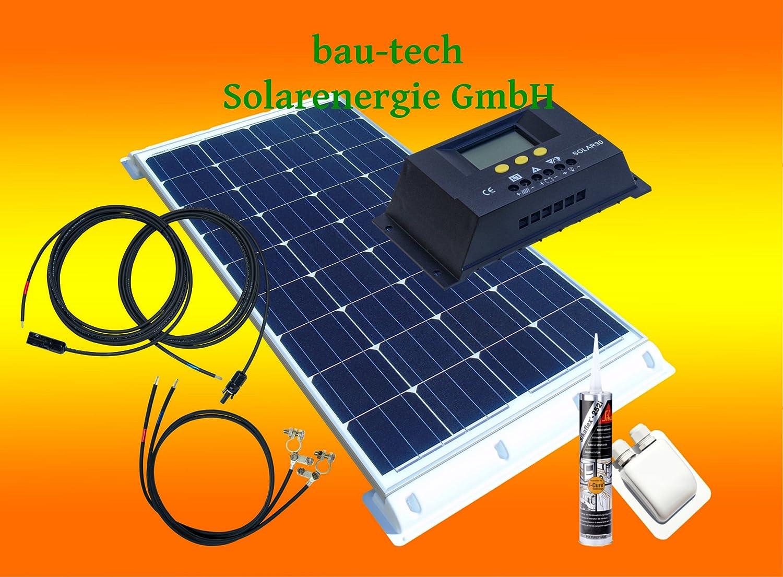 100Watt WoMo Solaranlage Komplettpaket für Wohnmobile, Boote, Camping u.v.m. von bau-tech Solarenergie GmbH