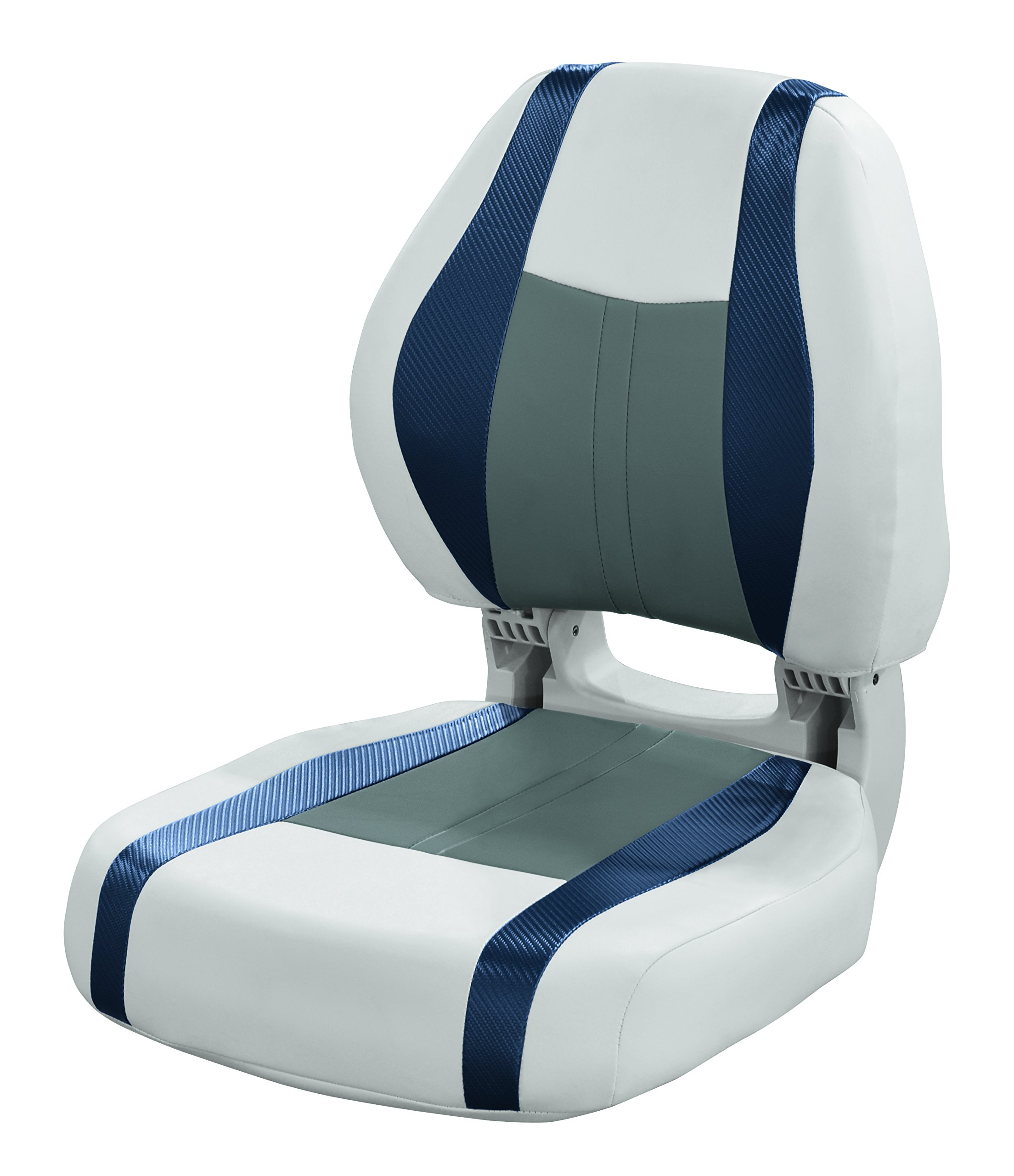 Wise 3011-1801 Sky Grey, Dove Grey, Laguna Blue Carbon Fiber Talon Torsa Frame Folding Boat Seat, Sky Grey-Dove Grey-Laguna Blue Carbon Fiber by Wise