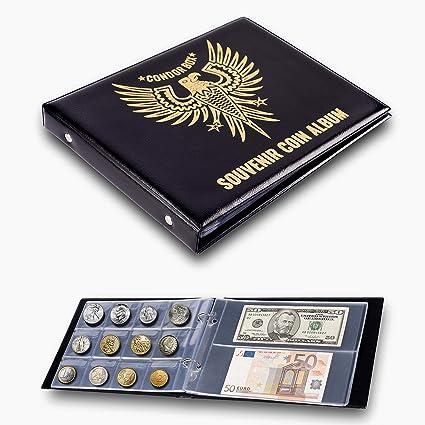 Black Coin Album,Coin Collectors Coin Storage Folder Album Coin Storage Coin Collection Book