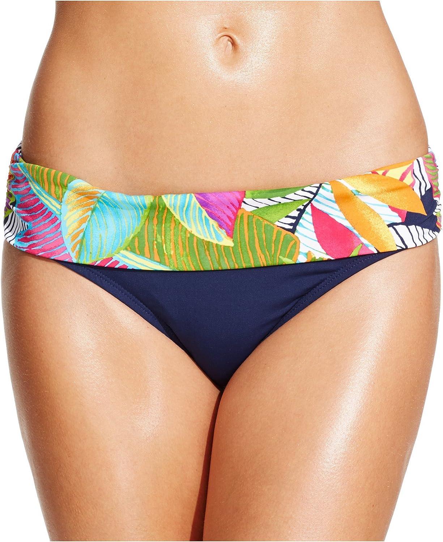 Anne Cole Banded Printed Bikini Bottomレディース水着 B01H45HAMO