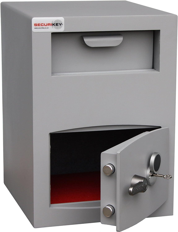 Securikey Mini Vault Silver Size 2 Deposit Safe /£3000 Overnight Cash Cover Key Locking