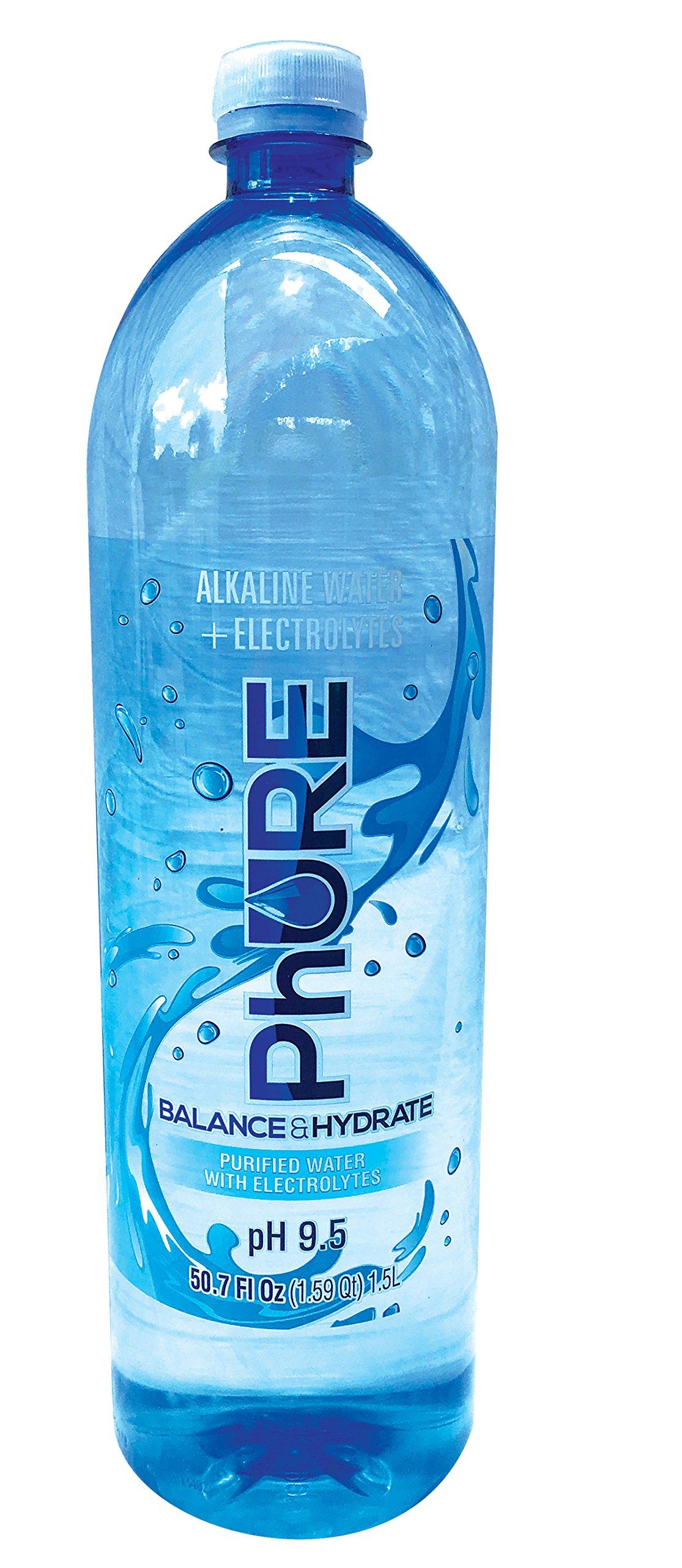 PhURE Alkaline Water, 50.70 Ounce, 12 Count by PhURE Alkaline Water
