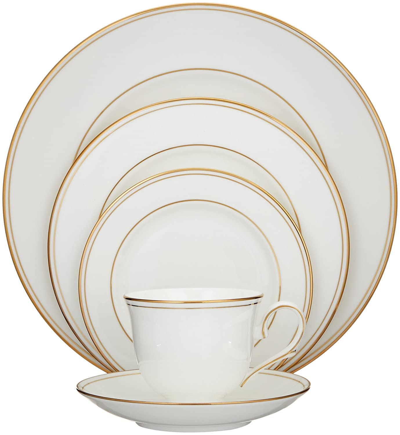 Lenox Federal Gold Bone China 5-Piece Place Setting, Service for 1