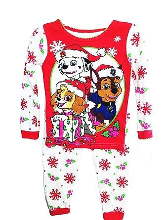 paw patrol toddler girls christmas holiday snowflake pajamas 2t - Girl Christmas Pajamas