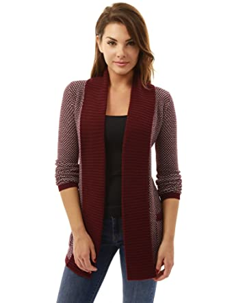 c20f26c8d3f PattyBoutik Women Open Front Marled Sweater Cardigan at Amazon Women s  Clothing store