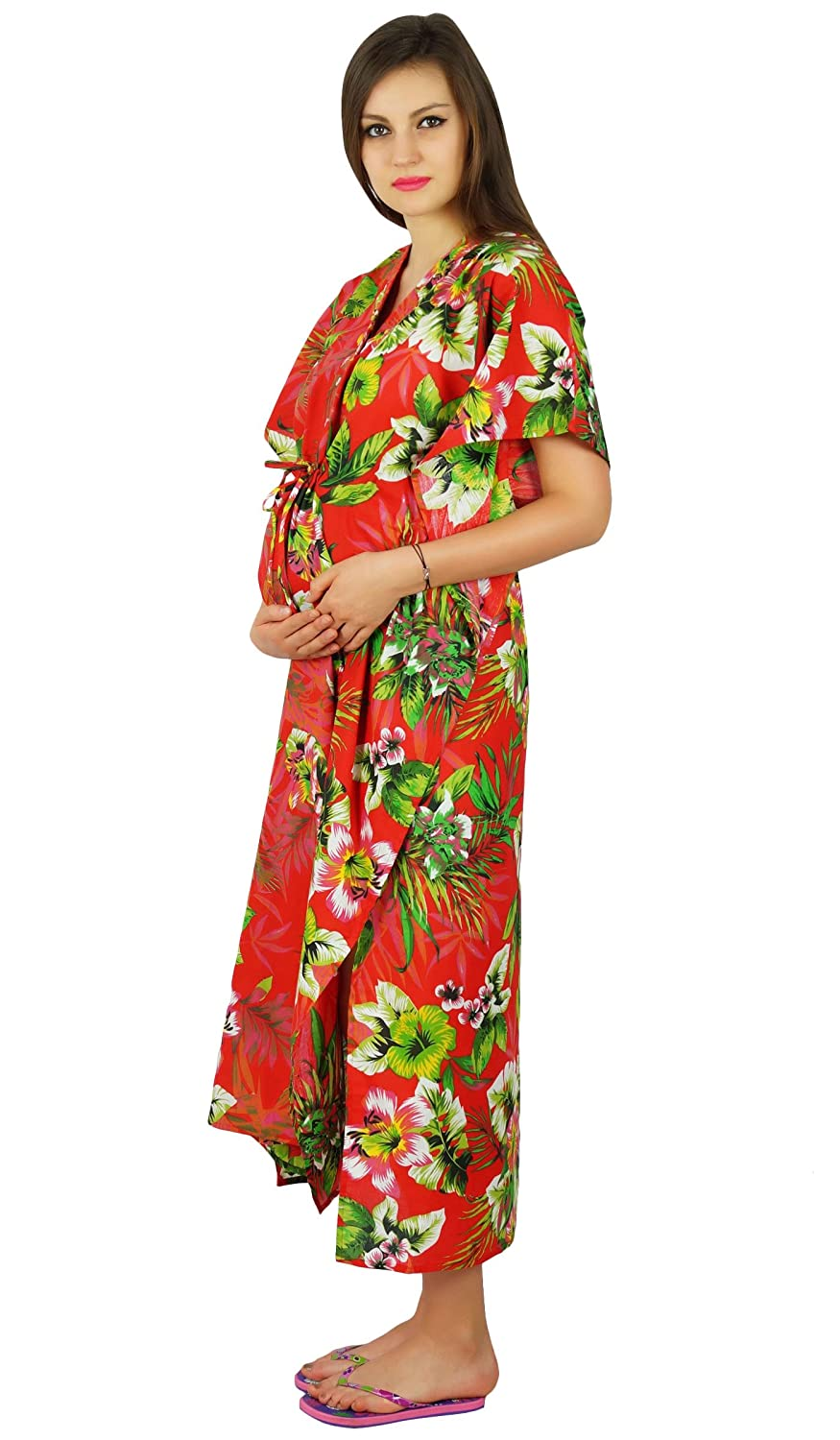 176059735fbf0 Bimba Nursing Cotton Kaftan Maternity Night Wear, Hospital Delivery Gown:  Amazon.ca: Clothing & Accessories