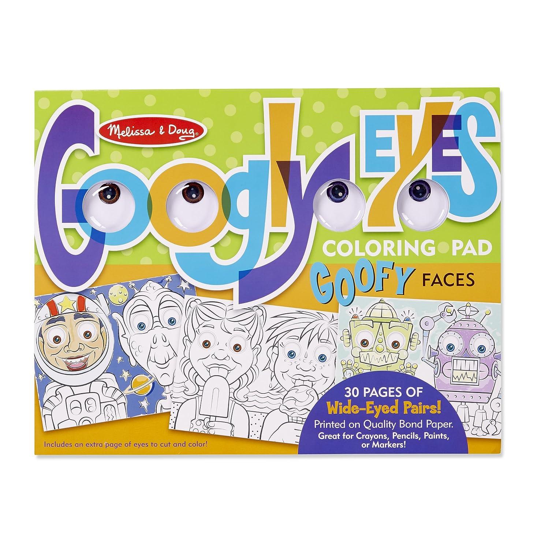Melissa /& Doug Wacky Faces Googly Eyes Coloring Pad Toy Melissa and Doug 5169