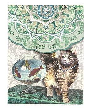 Punch Studio Everyday Posh mascotas bloc de notas de bolsillo (pecera gato): Amazon.es: Oficina y papelería