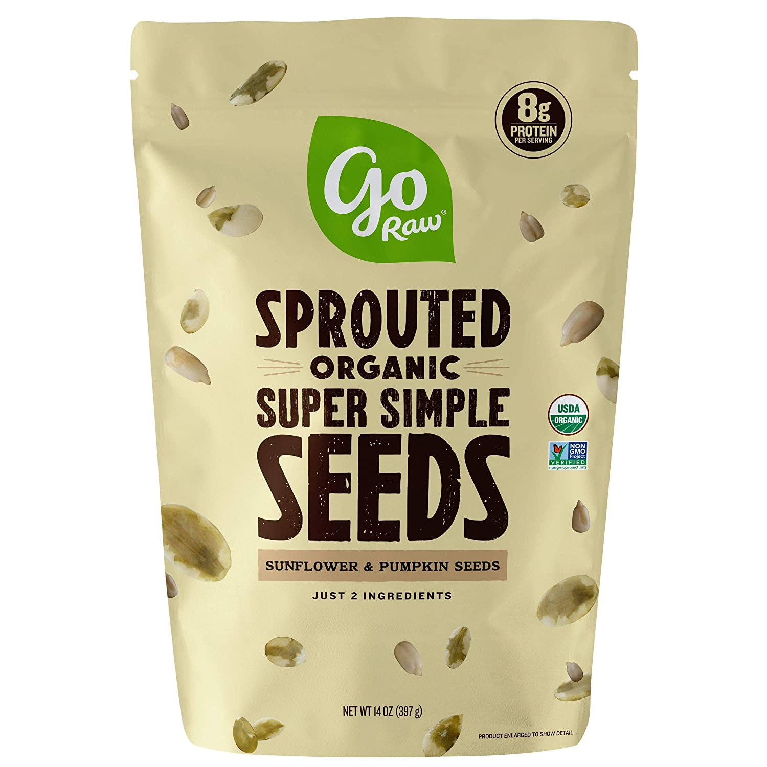 Go Raw , Sprouted Pumpkin and Sunflower Seed Mix| Keto | Vegan | Gluten Free Snacks | Organic | Superfood (Packaging May Vary), 14 oz(Single) (71450-64157), .0 Oz, Unsalted Mix 1 Pound 16.0 Ounce