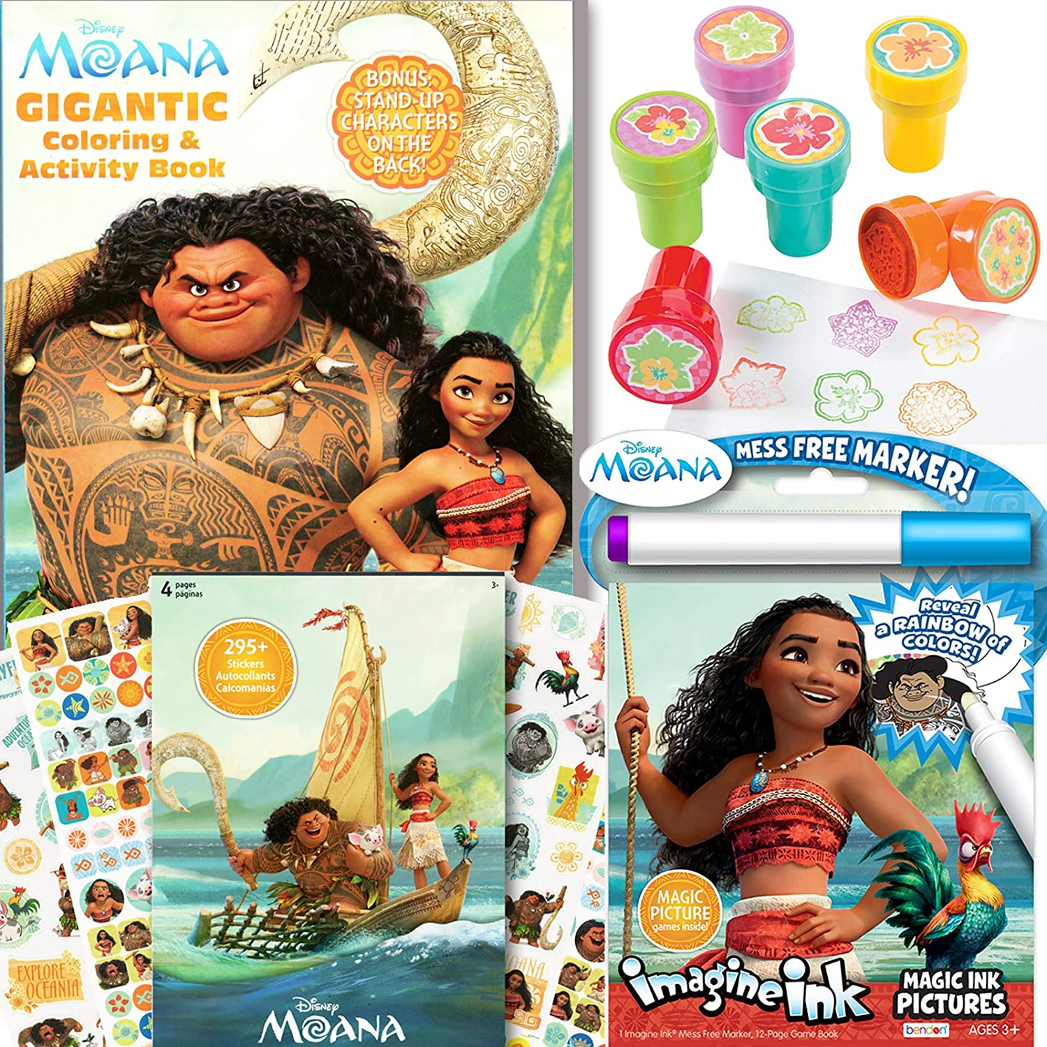 Amazon Com Disney Moana Coloring Activity Book With Moana Stickers Imagine Ink And More Office Products