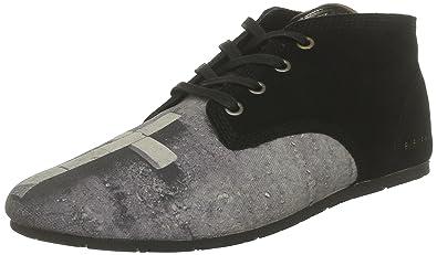 b8b72f5a24e280 Eleven Paris Bastee Bucks, Chaussures à lacets mixte adulte - Noir (Suede  Black)