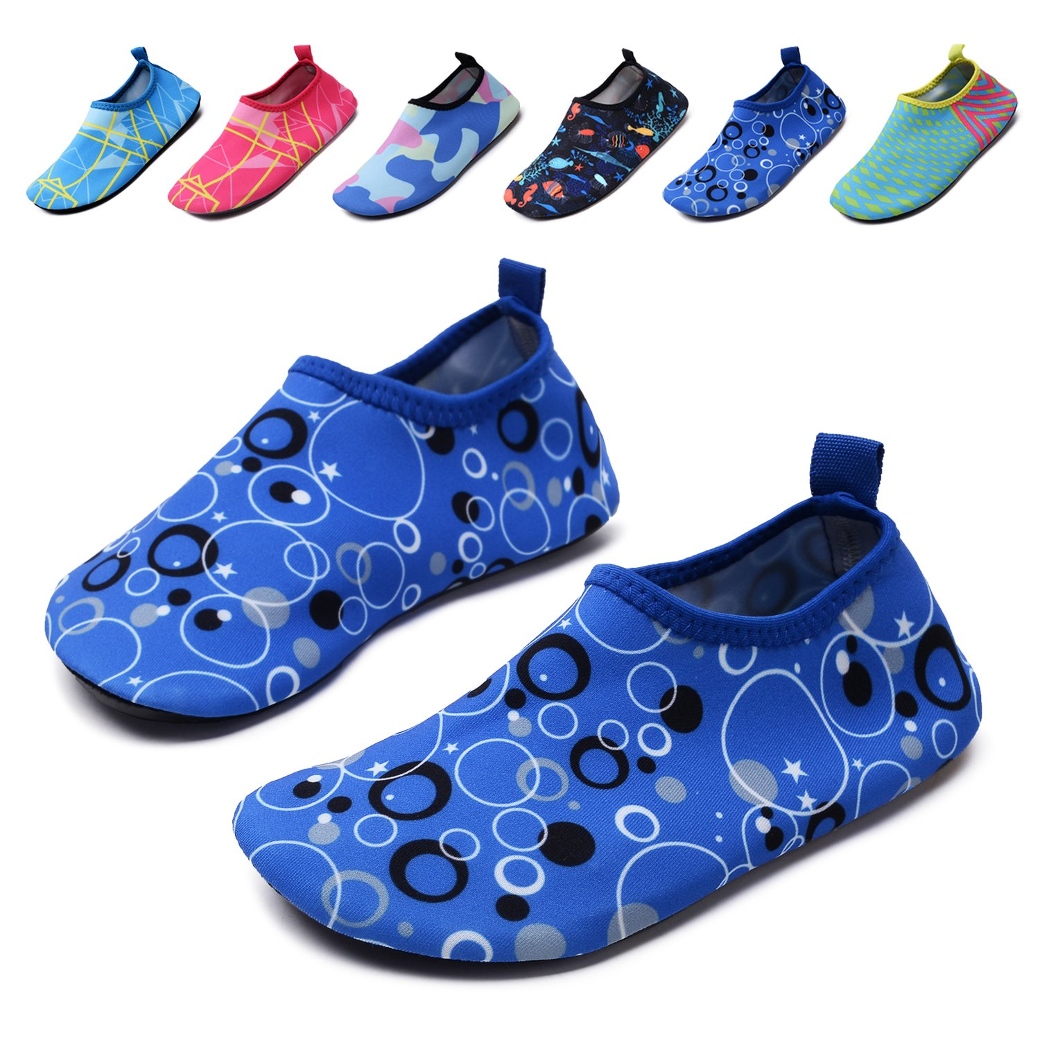 lewhosy Kids Boys and Girls Swim Water Shoes Quick Drying Barefoot Aqua Socks Shoes for Beach Pool Surfing Yoga(34/Blue)