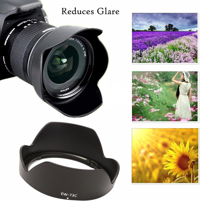 JJC LH-73C Dedicated Bayonet Lens Hood for Canon EF-S 10-18mm f//4.5-5.6 is STM Lens Canon E10-18mm f4.5-5.6 is STM Lens Lens Hood Replacement of Canon ES-EW-73C Lens Hood
