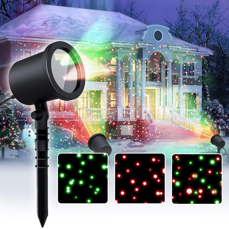 Star Laser Christmas Light Show Outdoor Decorations, Waterproof Landscape Lighting