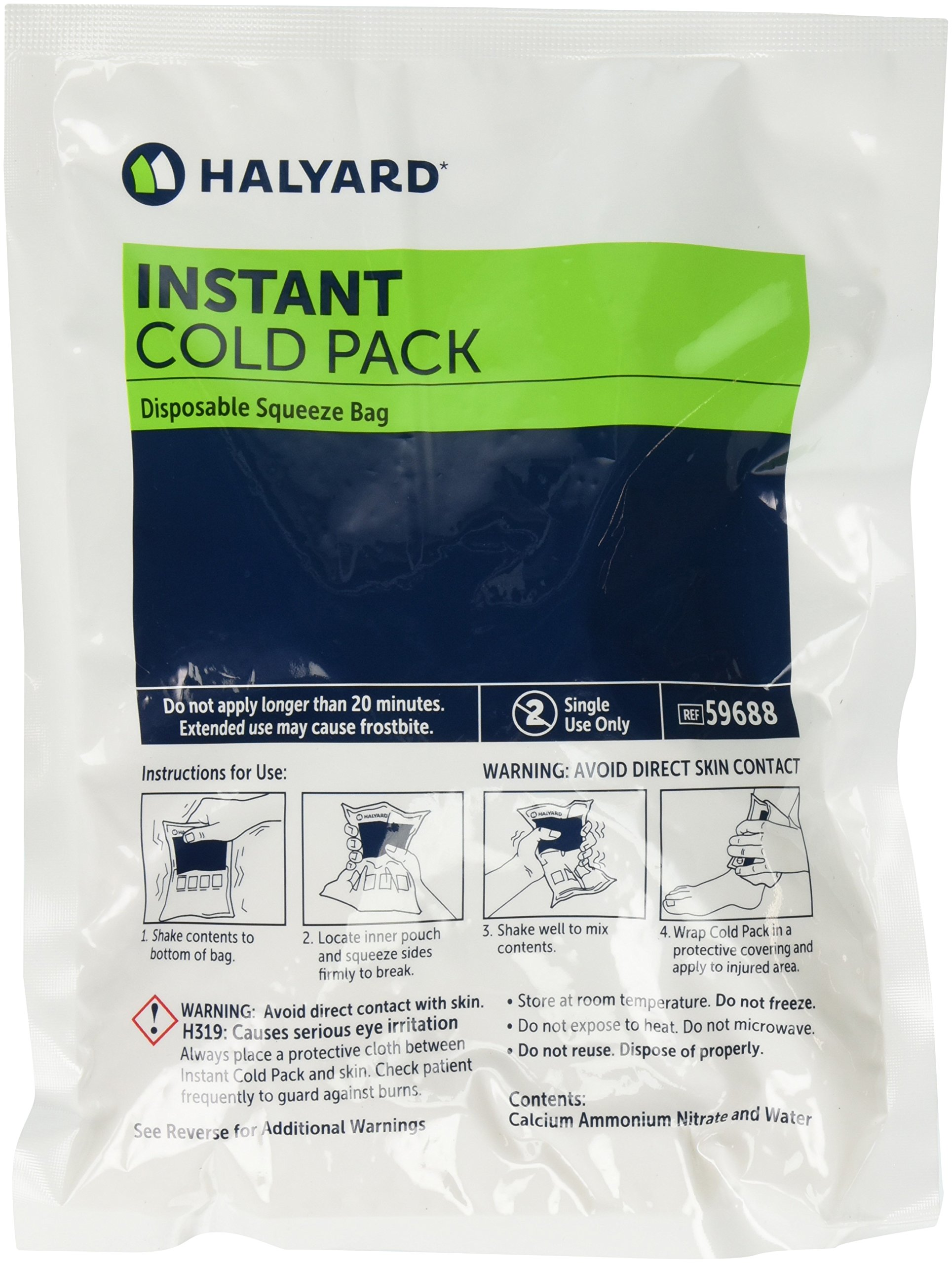 Halyard Health 59688 Health Care Instant Cold Pack, Large Size (Case of 24)
