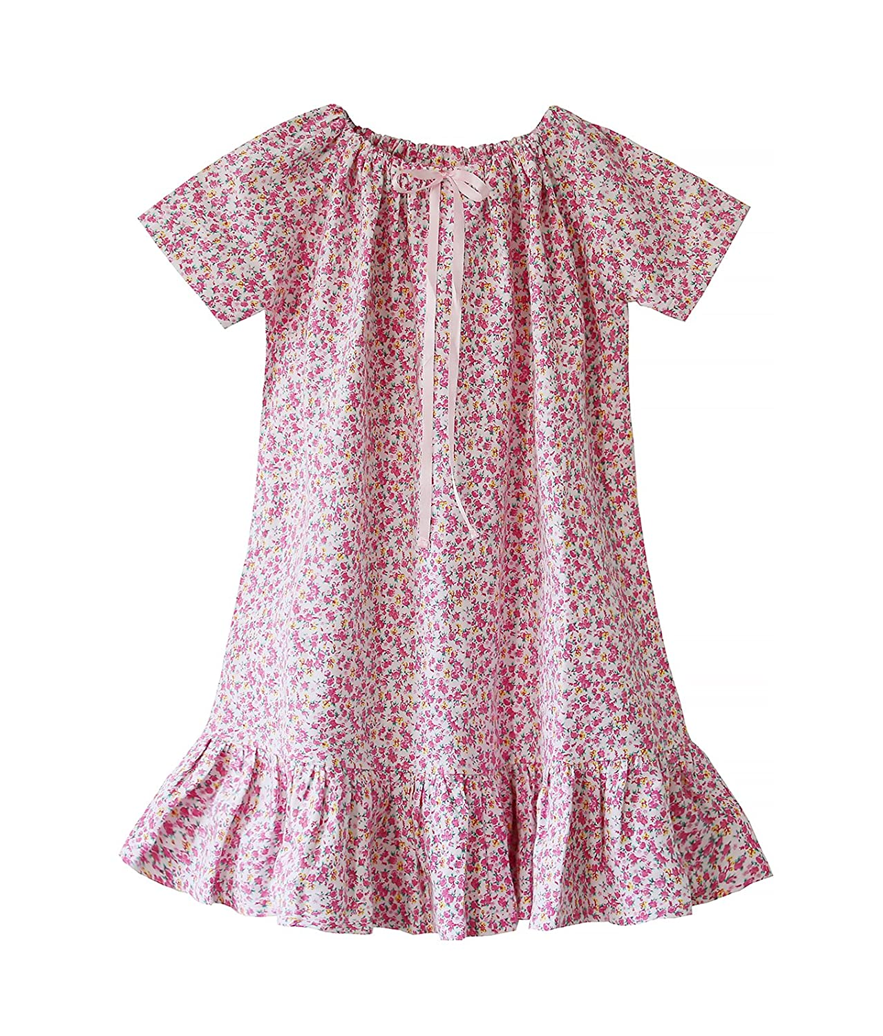 Bonné Girl Girls Nightdress 100% Cotton Flora Soft Nightie 6-7 Years