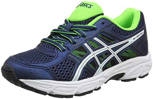 Asics Gel-Contend 4 GS, Zapatillas de Running para Niños, (Dark Bluewhitegreen Gecko), 39.5 EU: Amazon.es: Zapatos y complementos