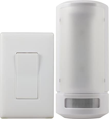 GE 17527 Wireless Remote Control LED Wall Sconce, White