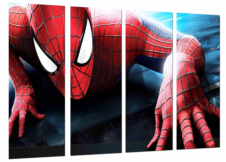 Quadro Su Legno, Spiderman, supereroe, spiderman, 131 x 62cm, Stampa in qualita fotografica. Ref. 26638 Cuadros Camara