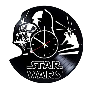 Amazon.com: Darth Vader - Reloj de pared de vinilo con ...