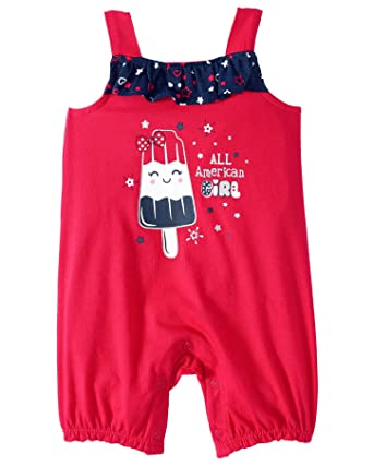 26c390dbd4cf Amazon.com  Patriotic Red White and Blue Baby Short Outfit