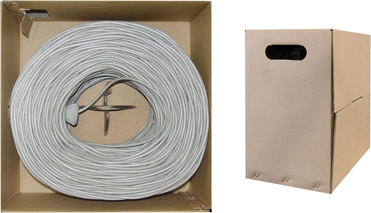 Pullbox Stranded 1pk Gray ACCL 1000ft Cat6 UTP Ethernet Cable