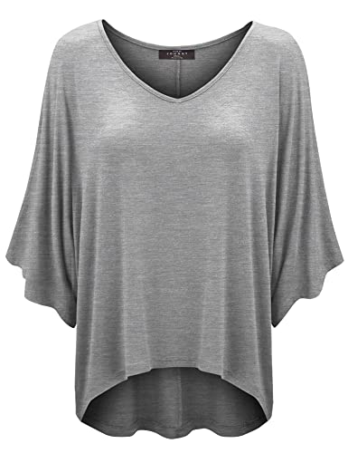 MBJ Womens Scoop Neck Half Sleeve Batwing Dolman Top - Made in USA