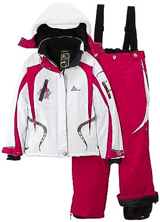 Peak Mountain Gagyss/nh - Conjunto térmico de ropa interior para niña, color blanco