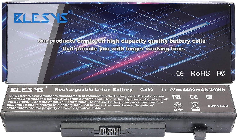 BLESYS 6-Cell 45N1048 45N1049 L11S6Y01 L11L6F01 Compatible con batería de portátil Lenovo IdeaPad G480 G485 G500 G505 G510 G580 G580A G585 G700 G710 Y480 Y580 V480 V580 Z380 batería de portátil: Amazon.es:
