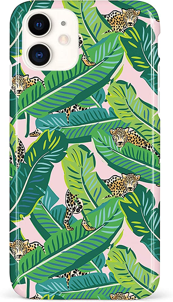 Green leafs pattern iPhone 11 case