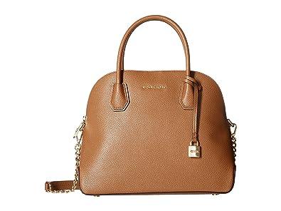 f87efd3ac479 Amazon.com: MICHAEL Michael Kors Womens Mercer Metallic Leather Satchel  Handbag Gold Medium: Shoes