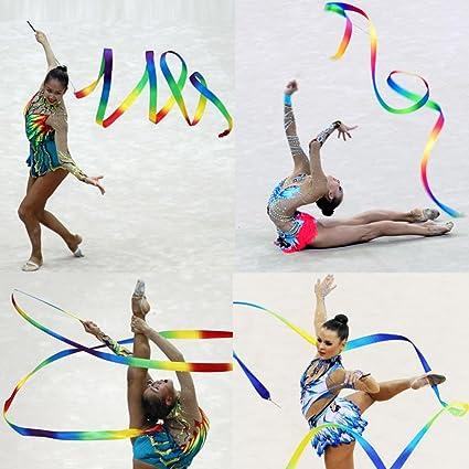4M Dance Ribbon Gym Rhythmic Art Gymnastic Ballet Streamer Twirling Rods USA