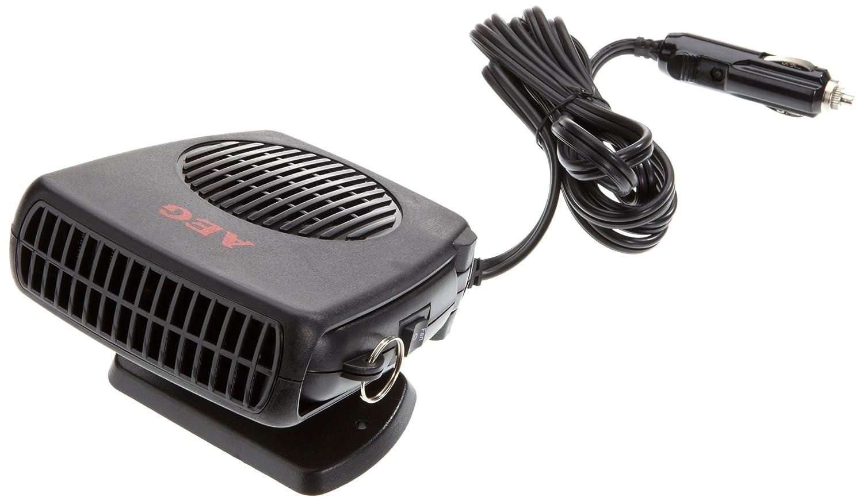 AEG 97201 Sbrinatore con ventola per finestrini, caldo/freddo, 150 Watt, con attacco per auto 12 V, base di appoggio e impugnatura AEG Automotive
